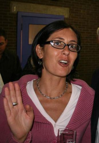 2005 : astrid gonzalez lors du 15e anniversaire de l'ale