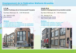 L'enseignement de la Fédération Wallonie-Bruxelles à Morlanwelz