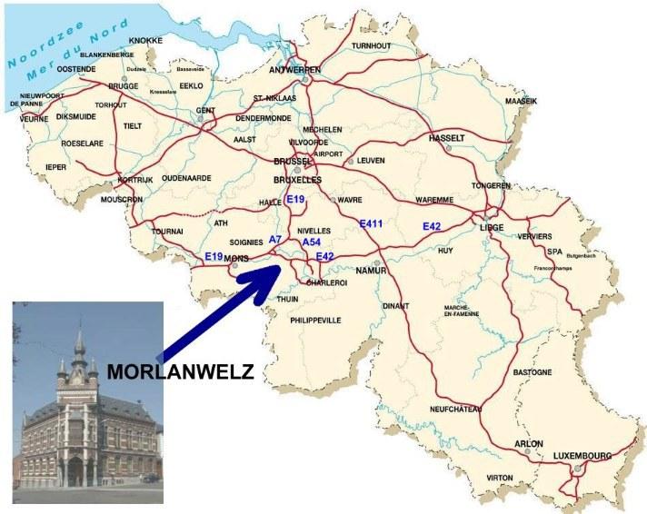 Carte Belgique Enseignement.Carte Belgique Commune De Morlanwelz