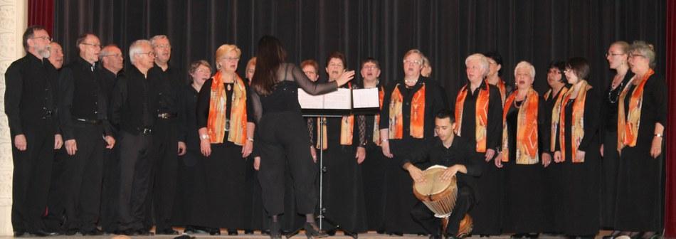 La Chorale l'Emilienne lors de la cérémonie des Noces d'Or 2013