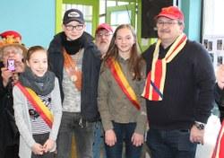 Andrew Clara a reçu une médaille pour 15 ans de participation au carnaval de Mont-Sainte-Aldegonde (Tambour / LesPaysans)