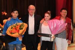Prix communal de l'Espoir 2015 : BLONDEAU Tiphaine (Tir à la carabine) & LAMENDOLA Santino (Karaté)