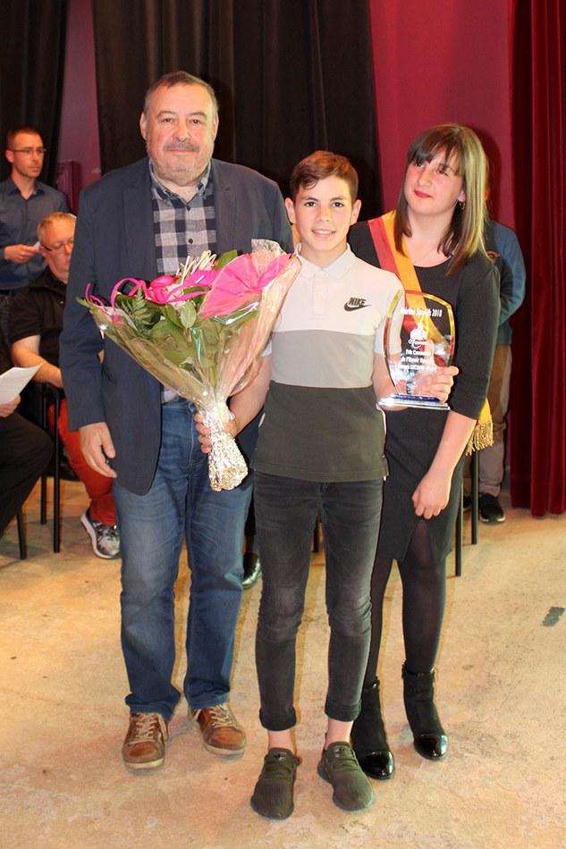 Prix communal de l'espoir - catégorie homme : Lorenz LUCIANO (moto)