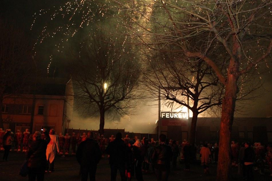 Morlanwelz - feu d'artifice le lundi soir