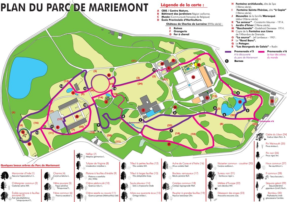 Plan du Parc de Mariemont